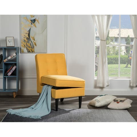 Oliver Polyester Fabric Storage Accent Chair