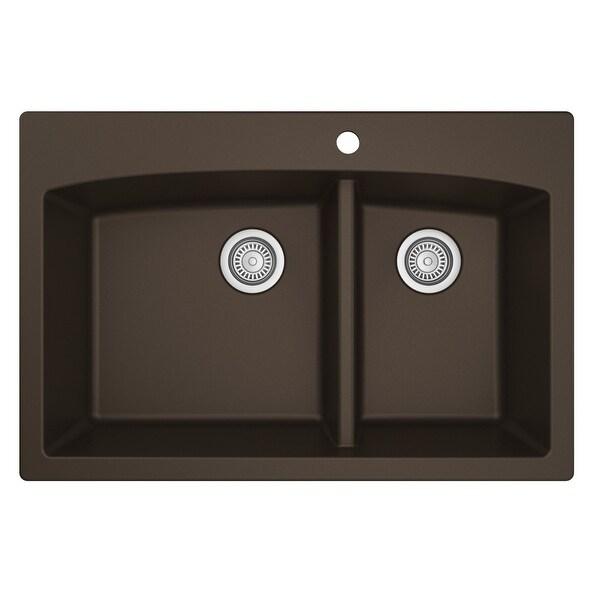 Karran Drop-In Quartz Double Bowl Kitchen Sink. Opens flyout.
