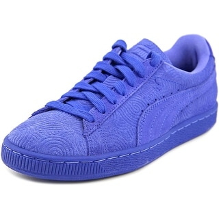 Puma Suede Classic  Women  Round Toe Suede Blue Sneakers