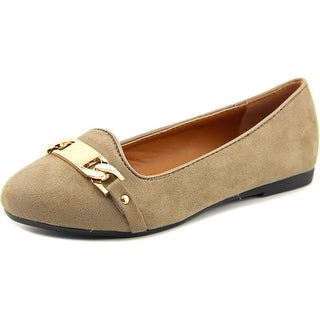Electric Karma Michelle Women Round Toe Canvas Brown Flats