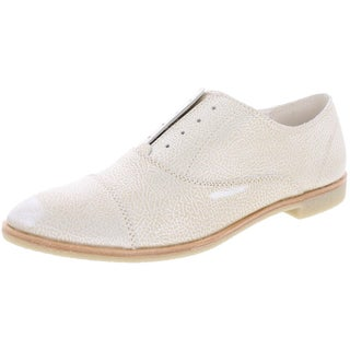 Dolce Vita Womens Cooper Oxfords Almond Toe Dress (Option: 9.5 medium (b,m) - Silver leather)