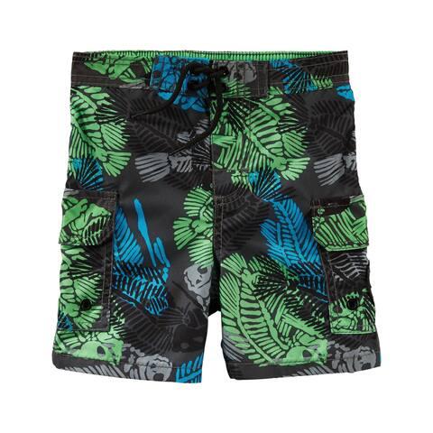 OshKosh B'gosh Baby Boys' Palm Print Swim Trunks, 12 Months