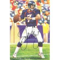 John Elway Autographed Denver Broncos Goal Line Art Card in Black