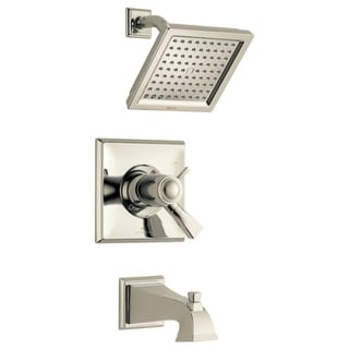 Delta T17T451-WE Dryden Thermostatic Tub and Shower Trim Package with 2.0 GPM Single Function Shower Head, TempAssure, and Touch