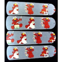 Baby Elmo Custom Designer 42in Ceiling Fan Blades Set - Multi