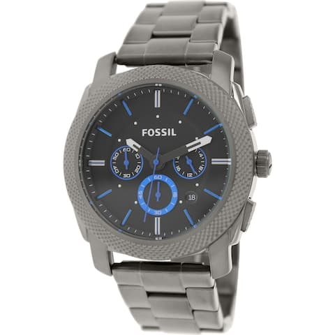 Fossil Men's Machine Grey Stainless-Steel Plated Fashion Watch