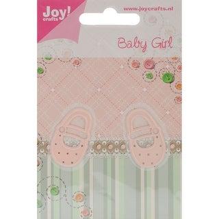 "Joy! Crafts Cut & Emboss Die -Baby Girl Shoes, .75""X1.25"""