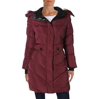Noize Womens Kennedy Basic Coat Quilted Faux Fur