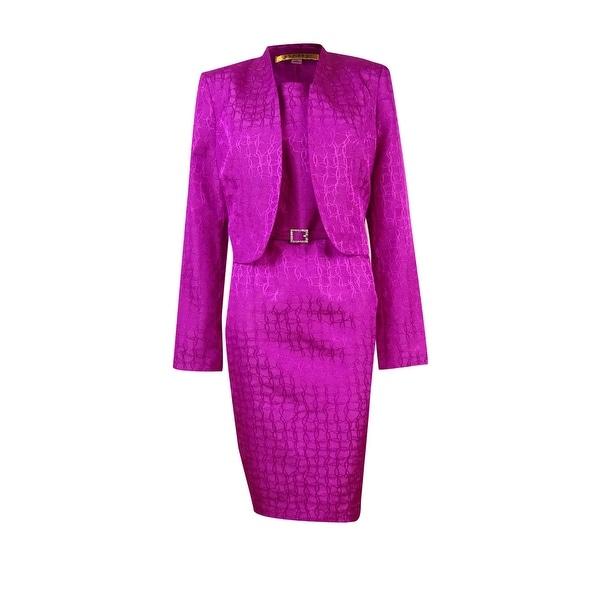 Shop Kasper Women S Belted Sophisticated Jacket Dress Set Wild