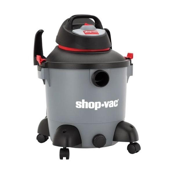 Shop-Vac 8 gal. Corded Wet/Dry Vacuum 9.8 amps 120 volt 4 hp Gray 14 lb.. Opens flyout.