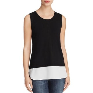 Calvin Klein Womens Tank Top Sweater Sleeveless Layered-Look
