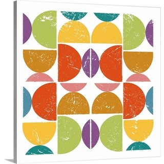 The Novogratz Premium Thick-Wrap Canvas entitled Mid Century - Abstract - Multi-color