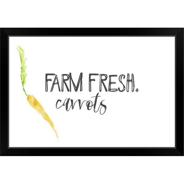 """Farm Fresh Carrots II"" Black Framed Print"
