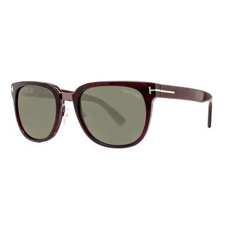 Tom Ford Rock TF290 52N Tortoise Brown Green  Unisex Square Sunglasses - brown havana - 55mm-20mm-145mm