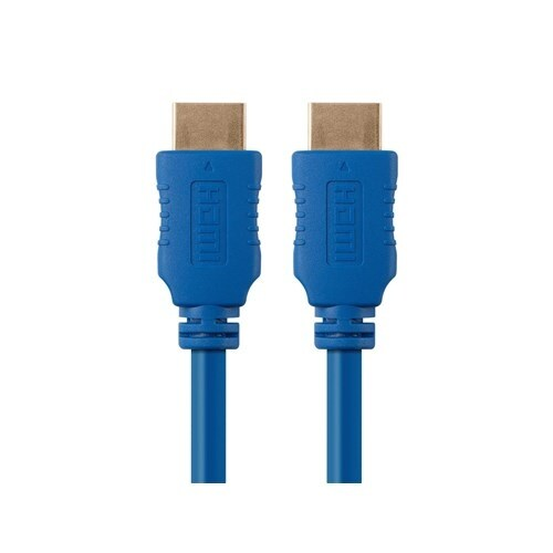 Monoprice 3 ft Select Series HDMI Cable - Blue Network Cable