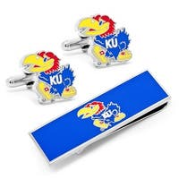 University of Kansas Cufflinks and Money Clip Gift Set - Multicolored