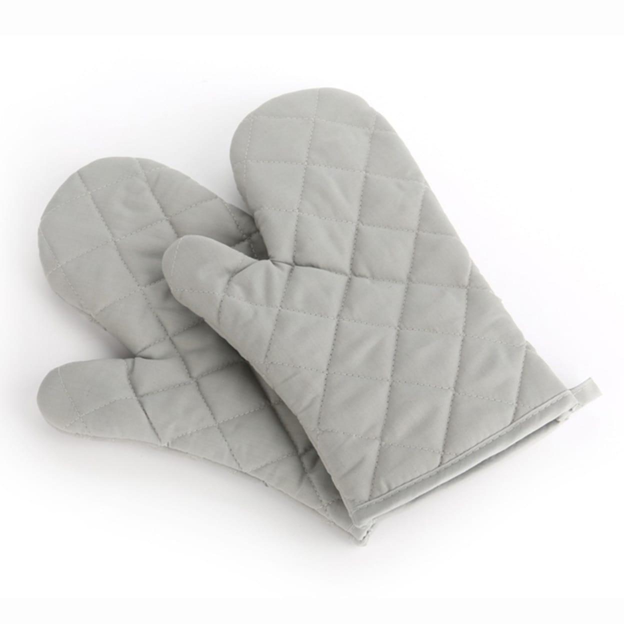 2pcs Oven Gloves 100/% Heat Resistant Cotton Oven Gauntlet Mitts