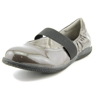 Softwalk High Point Flat Women W Round Toe Patent Leather Gray Mary Janes
