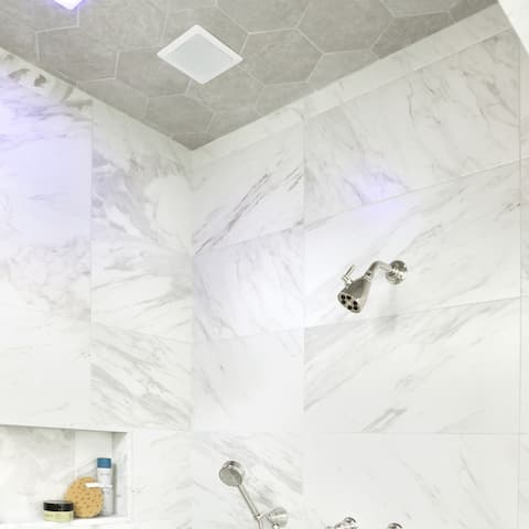 """SomerTile Traffic Hex Silver 8.63"""" x 9.86"""" Porcelain Floor and Wall Tile"""