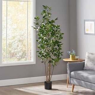 Link to Atoka 5.5' x 2' Artificial Laurel Tree by Christopher Knight Home Similar Items in Decorative Accessories