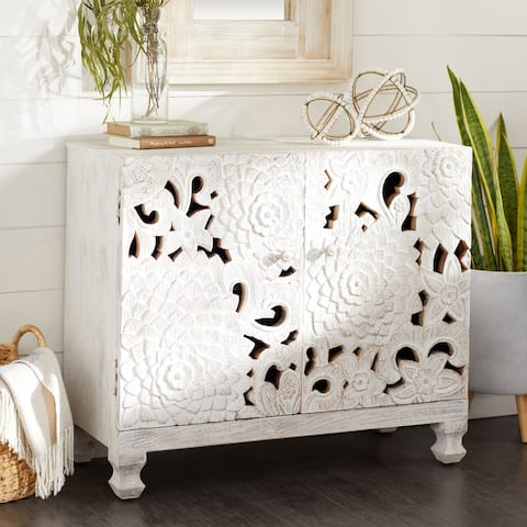 White Wood Mediterranean Cabinet 30 x 35 x 16 - 35 x 16 x 30