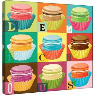 "PTM Images 9-100992  PTM Canvas Collection 12"" x 12"" - ""Dream Every Day - Macaroons"" Giclee Letters Art Print on Canvas"