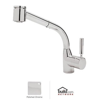 Rohl R7923 Lux Single Kitchen Faucet with Pull Out Spray and Metal Lever Handle