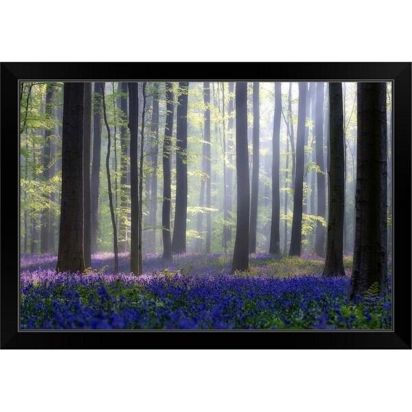 """""""Bluebells"""" Black Framed Print"""