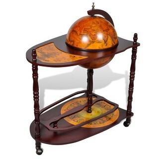 vidaXL Globe Bar Cabinet with Table Trolley