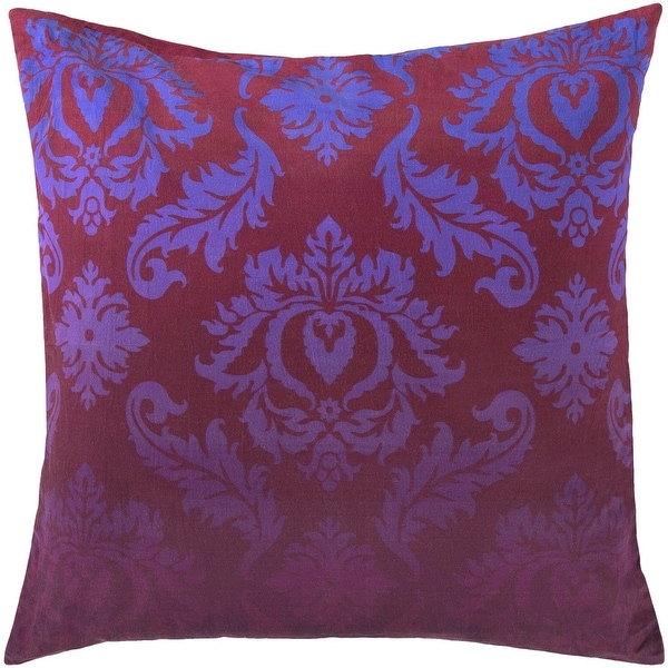 "18"" Red and Blue Contemporary Pattern Decorative Square Throw Pillow"
