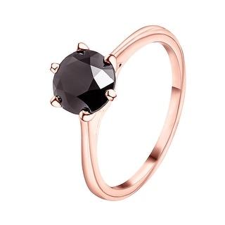 Prism Jewel 1.00 Carat Black Color Diamond Six Prong Solitaire Ring