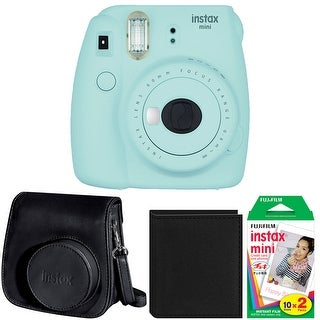 Fujifilm Instax Mini 9 (Cobalt) w/ Groovy Case & Film Bundle