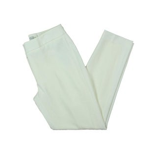 Tahari Womens Petites Dress Pants Skinny Fit Flat Front