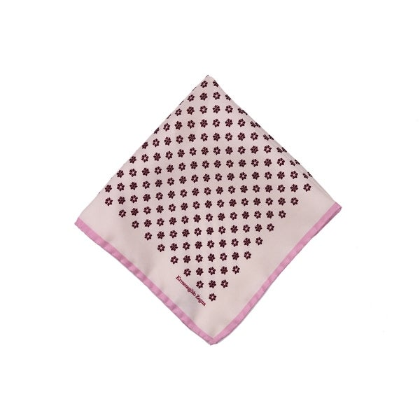 bc789c95 Shop Ermenegildo Zegna Mens Beige Burgundy Floral Silk Pocket Square ...