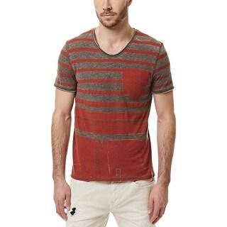 Buffalo David Bitton Mens T-Shirt Graphic Striped