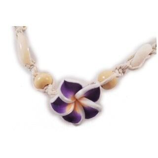 Charming Shark Girls Macrame Flower Necklace Adjustable Purple