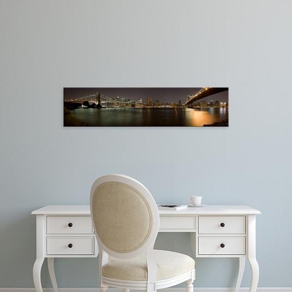 Easy Art Prints Panoramic Images's 'Brooklyn Bridge and Manhattan Bridge, Manhattan, New York City' Canvas Art