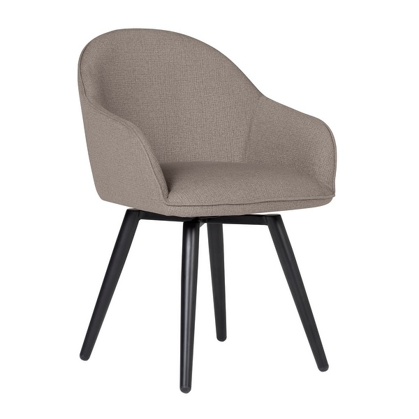 Offex Home Dome Swivel Dining/Office Chair with Arms in Camel Beige
