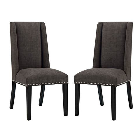 Modway Baron Fabric Upholstered Dining Chairs (Set of 2)