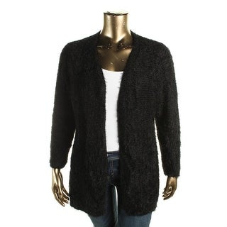 Calvin Klein Womens Cardigan Sweater Eyelash Open Front