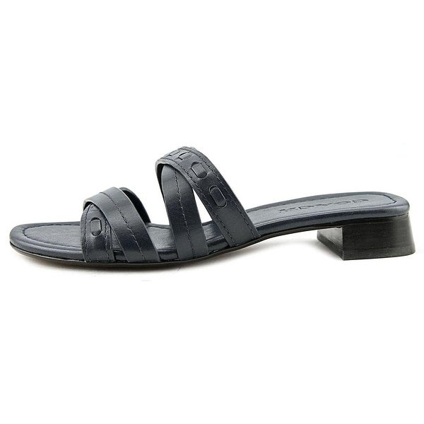 Coach Womens Ariana Leather Open Toe Casual Slide Sandals