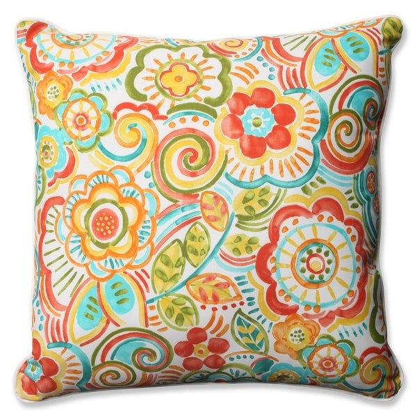 """25"""" Bronwood Carnival Outdoor Corded Throw Pillow"""