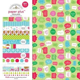 "Doodlebug Paper Plus Value Pack 12""X12"" 8/Pkg-Bright Christmas"