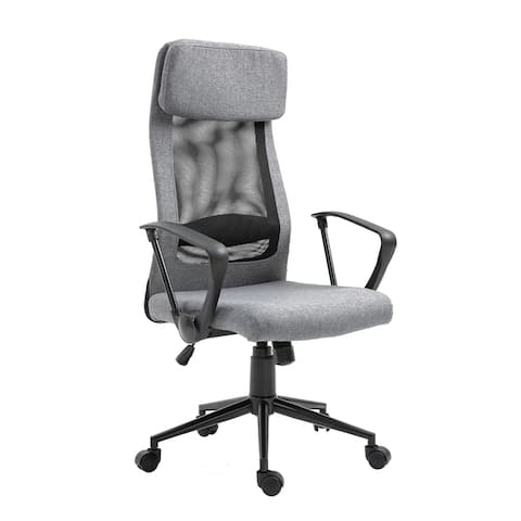 Vinsetto Breathable Home Office Chair Executive Height Adjustable Rolling Swivel Chair with Tilt Function