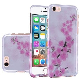Insten Pink/ White Cherry Blossom Hard Snap-on Rubberized Matte Case Cover For Apple iPhone 5/ 5S/ SE