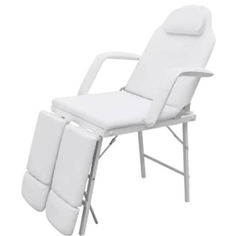 vidaXL Facial Bed Artificial Leather White