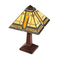 """Meyda Tiffany 142879 Sierra Prairie Mission 1 Light 16"""" Tall Hand-Crafted Table Lamp with Stained Glass - n/a"""