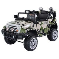 12 V Kids Ride on Truck with MP3 + LED Lights-CAMO