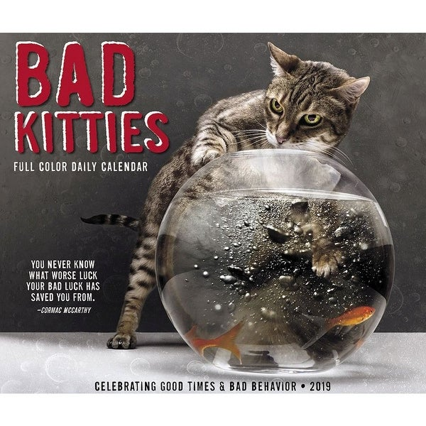Shop 2019 Bad Kitties 2019 Desk Calendar Funny Cats By Willow Creek