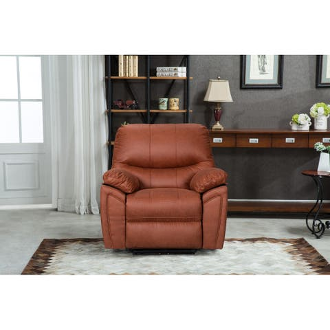 Q-Max Power Recliner Chair with USB Port, Electric Reclining Single Sofa with Pillow Top Arms for Bedroom and Living Room Chair
